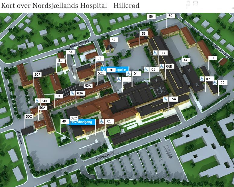 parkering hillerød sygehus